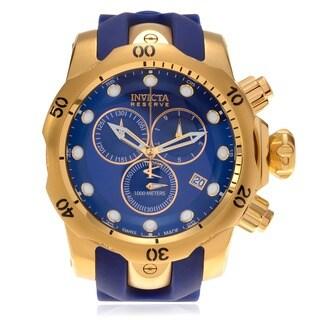 Invicta Men's IN-6113 Oversized 'Venom' Silicone Strap Chronograph Watch