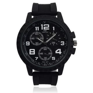 Territory Men's Round Tachymeter Dial Silicone Strap Watch|https://ak1.ostkcdn.com/images/products/9489039/P16669884.jpg?impolicy=medium