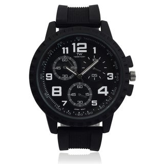 Territory Men's Round Tachymeter Dial Silicone Strap Watch