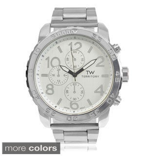Territory Men's Large Round Face Link Bracelet Watch|https://ak1.ostkcdn.com/images/products/9489040/P16669885.jpg?_ostk_perf_=percv&impolicy=medium