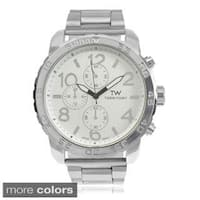 Territory Men's Large Round Face Link Bracelet Watch