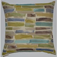 Paintstroke Feather Filled Throw Pillow