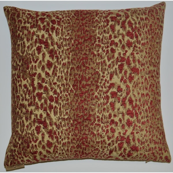 Domain Feather Filled Decorative Pillow : Red Purrfect Feather Filled 18-inch Decorative Throw Pillow - Free Shipping Today - Overstock ...
