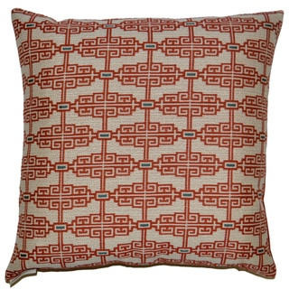 Catalonia Feather Filled Throw Pillow (Coral)