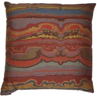 Sunset Feather Filled Throw Pillow
