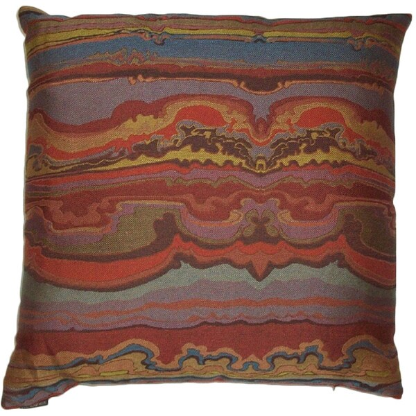 Sunset Feather Down Hidden Zipper 24-inch Decorative Throw Pillow