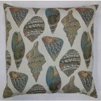 She Shells Feather Filled Throw Pillow
