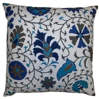 Calypso Feather Down Hidden Zipper 24-inch Decorative Throw Pillow