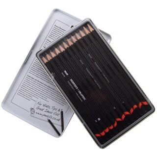 Derwent Graphic Pencil Tin 12/Pkg-Medium