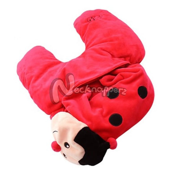 Dotty the Red Ladybug Necknapperz Plush and Pillow