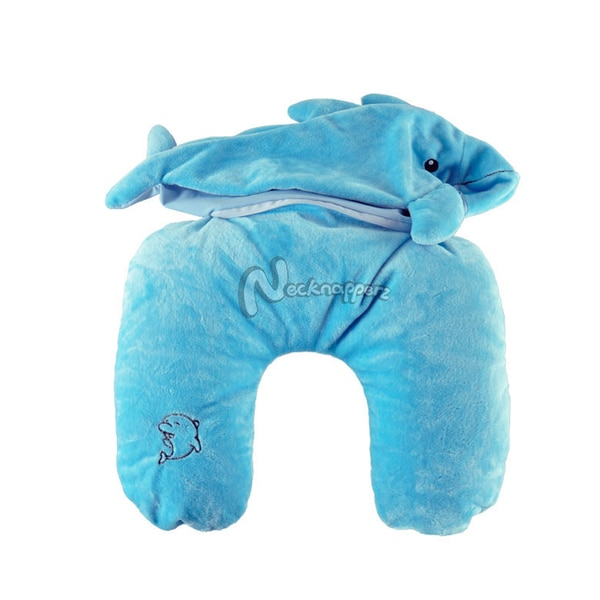 Diver the Dolphin Necknapperz Plush and Pillow
