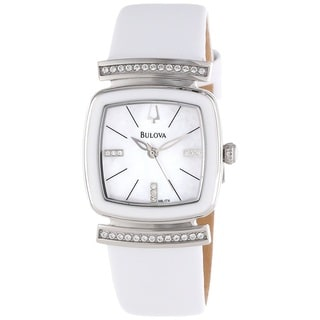 Bulova Women's 98L174 Crystal and Mother of Pearl Watch