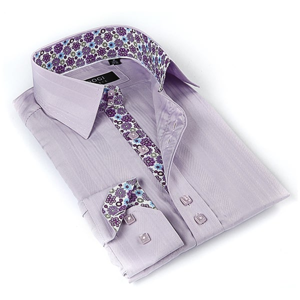 Shop Coogi Luxe Men\'s Lavender Button-down Dress Shirt - On Sale ...