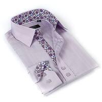 Coogi Luxe Men's Lavender Button-down Dress Shirt