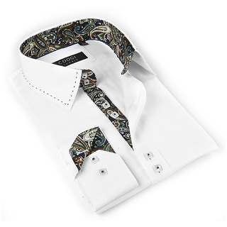Coogi Luxe Men's White Button-down Dress Shirt