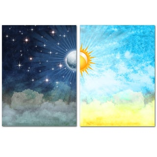 Night & Day' Gallery-wrapped Canvas Wall Art