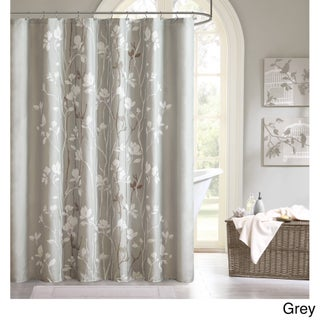The Gray Barn Mission Creek Printed Shower Curtain (Option: Grey)