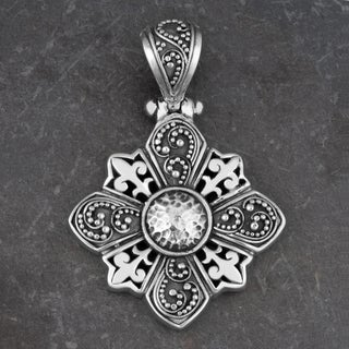 Sterling Silver 'Secret Garden' Pendant (Indonesia)