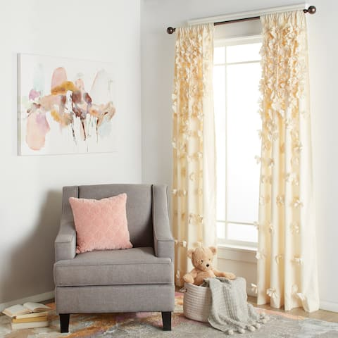 Silver Orchid Turpin Single Window Curtain Panel