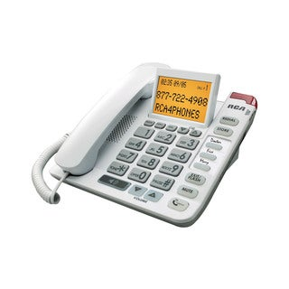 RCA Corded Amplified Speakerphone Desk Phone with Caller ID