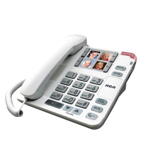 RCA Corded Amplified Speakerphone Desk Phone