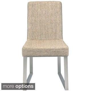 Aurelle Home Stainless Steel Tuba Chair (Set of 2)