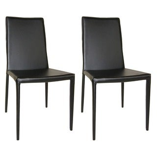 Aurelle Home Classic Italian Leather Dining Chair (Set of 2)
