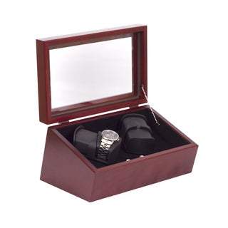 American Chest 'The Commodore' Solid Cherry 4-watch Winder