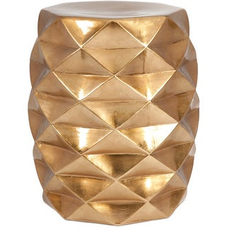 IK Geometric Gold Garden Stool