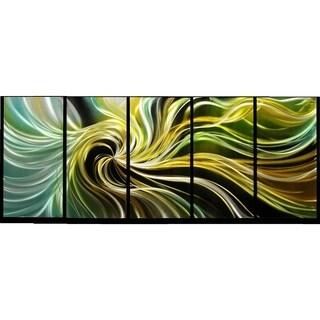 Magic Swirl' 5-panel Handmade Metal Wall Art