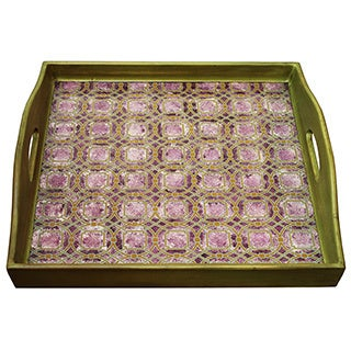 Rabat Purple Bronze Square Tray