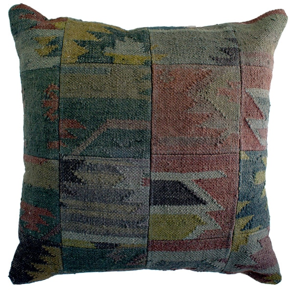 Jute Multicolored Aztec Decorative Pillow Free Shipping Today Awesome Aztec Decorative Pillows