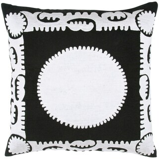 Embroidered Suzani Cotton Feather-filled Throw Pillow