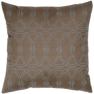 Entangle Circle Silk Print Feather-filled Throw Pillow