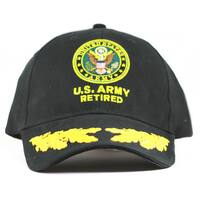 US Army Retired Military Cap with Scrambled Eggs