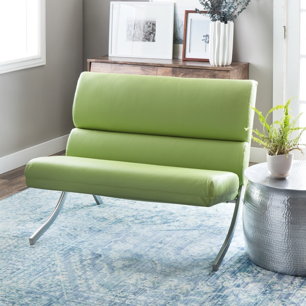 Rialto Lime Green Bonded Leather Loveseat Free Shipping Today 16670594