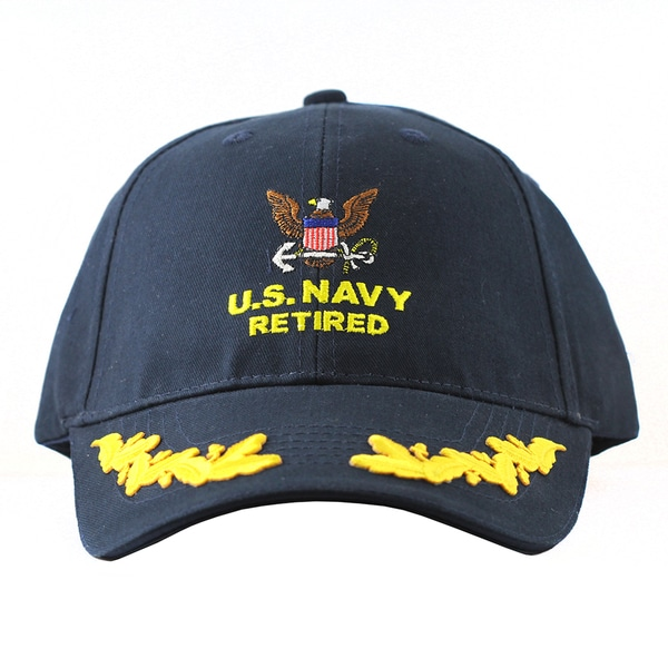Shop US Navy Retired Military Caps with Scrambled Eggs ...