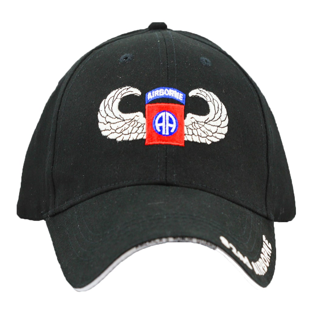 Crest US Army 82nd Airborne Division cap (Black) (cotton,...