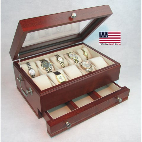 American Chest 'The Captain' Heritage Solid Cherry Watch Storage Chest and Valet