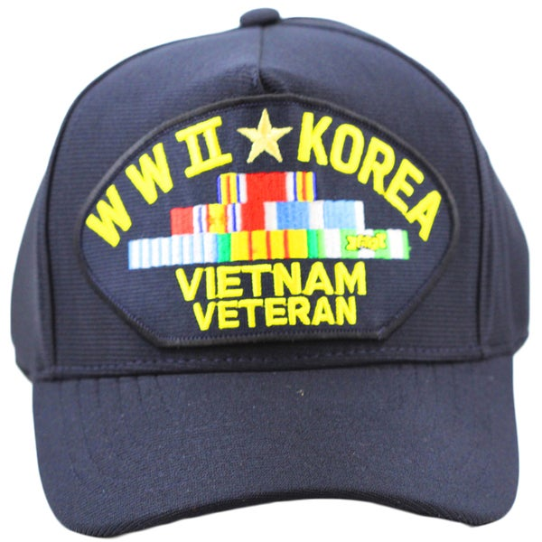 World War II Korea and Vietnam Veteran Hat with Ribbons