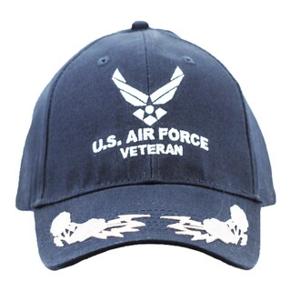US Air Force Veteran Cap with Scrambled Eggs
