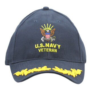 US Navy Veteran Military Cap with Scrambled Eggs