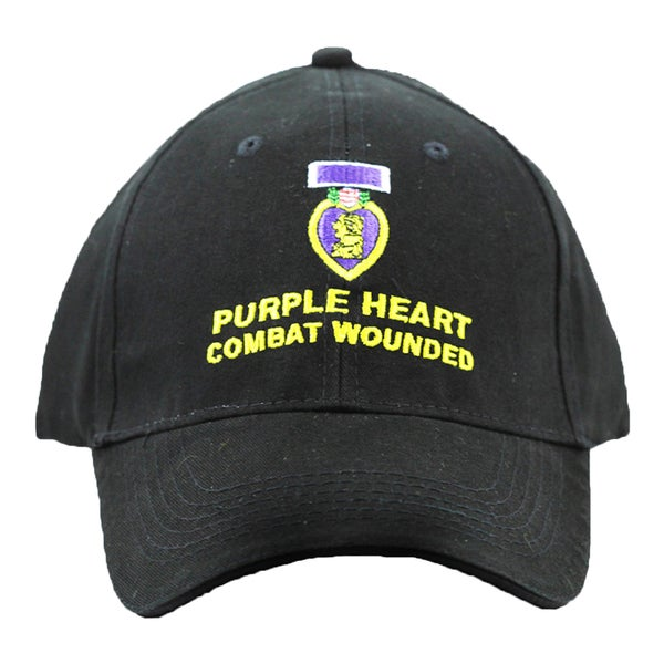 Purple Heart Combat Wounded Direct Baseball Cap