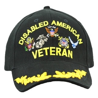 US Disabled Veteran Military Cap with Scrambled Eggs