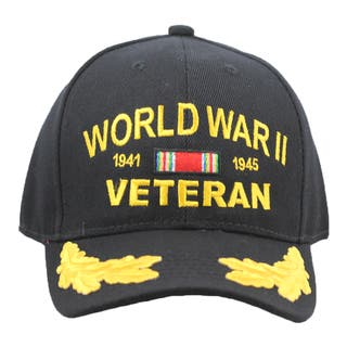 Military WWII Veteran Cap with Scrambled Eggs|https://ak1.ostkcdn.com/images/products/9490149/P16670956.jpg?impolicy=medium