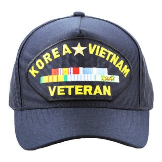 Korea and Vietnam Veteran Hat with Ribbons