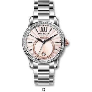 Stuhrling Original Women's Dawn Swiss Quartz Stainless Steel Bracelet Watch