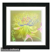Studio Works Modern 'Yellow Bonobo Bell Flower' Framed Fine Art Print