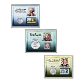 American Coin Treasures Presidential Bicentennial Coin and Stamp Collections