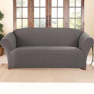 Sure Fit Stretch Two-tone Honeycomb Sofa Slipcover